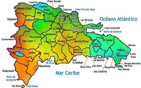 Dominican Republic Map Punta Cana Map And Several Other Cities In DR - Dominican republic map