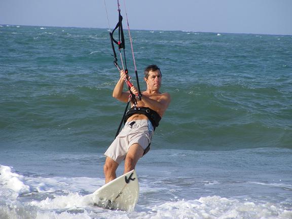 how to kiteboard