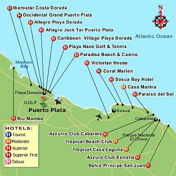 Dominican Republic Map, Punta Cana Map and several other cities in on