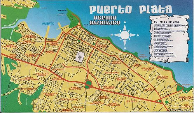 puerto plata map