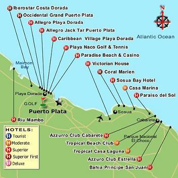 puerto plata sosua map