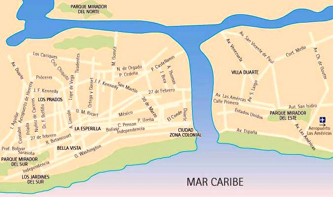 map Santo Domingo